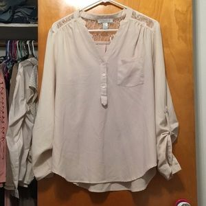 Forever 21 Creme Blouse
